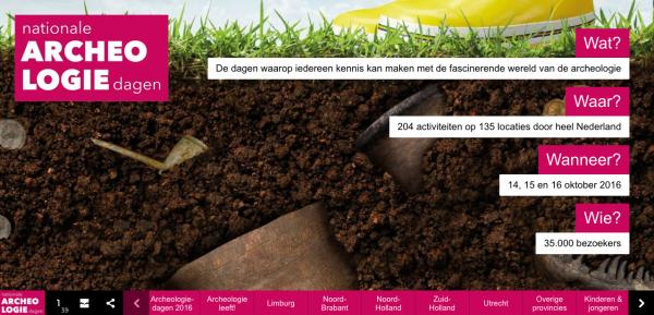 Online Magazine van Archeologiedagen 2016