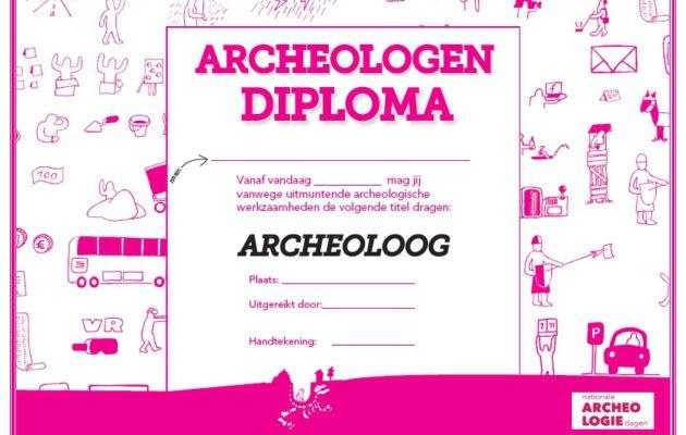 Deel een archeologendiploma uit!